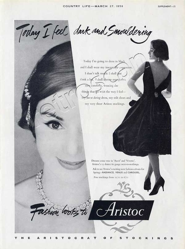 1958 Aristoc Stockings advert