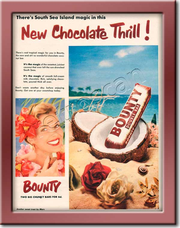 1953 Bounty Bar  vintage advert