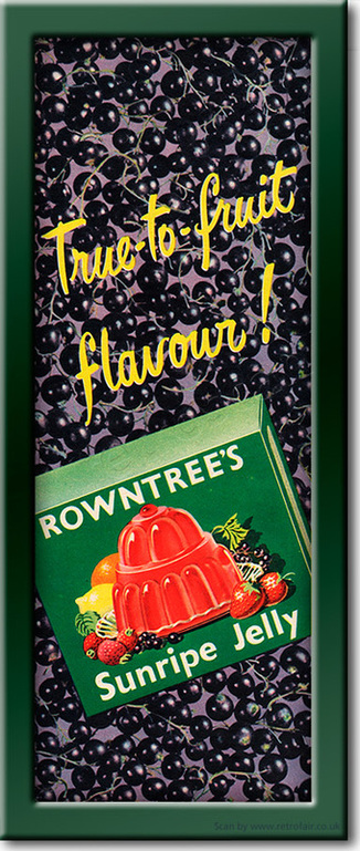 1954 Rowntree's Jelly - framed preview vintage ad