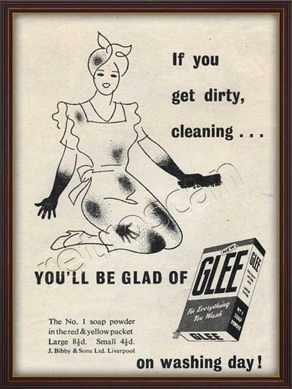 1948 vintage Glee Soap Powder Ad