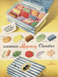 1953 Clarnico Candies