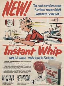 1955 Bird's Instant whip retro ad