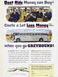1950 Greyhound Buses