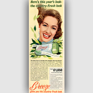 1955 Breeze soap ad