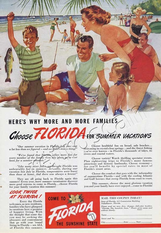 1949 vintage Florida advert