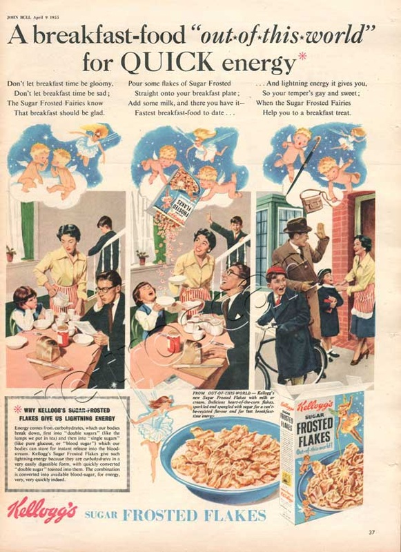 1955 Kellogg's Frosted Flakes vintage advert