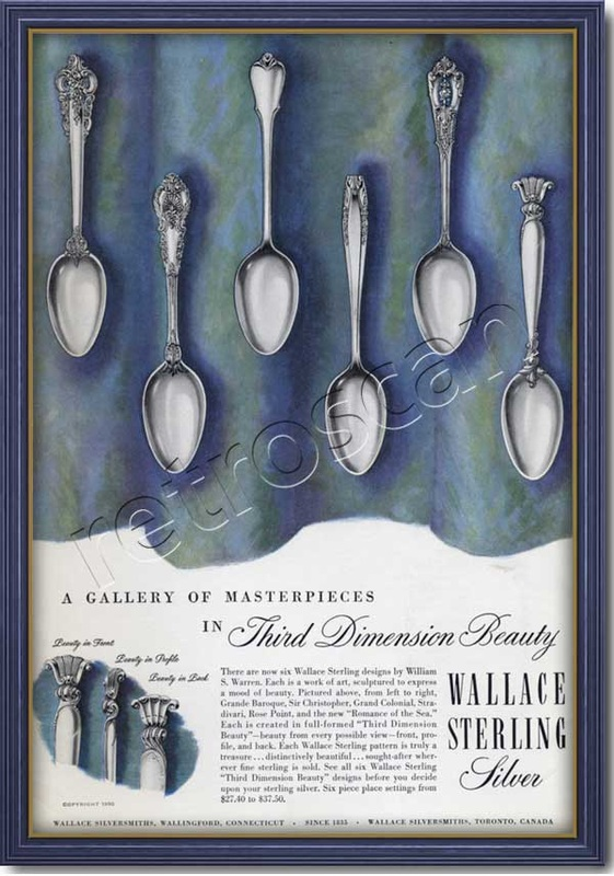 1950 vintage Wallace Sterling  advert