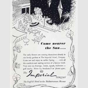 1950 Torquay Imperial Hotel  - Vintage Ad
