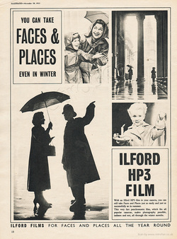1953 Ilford HP3 Film - unframed vintage ad