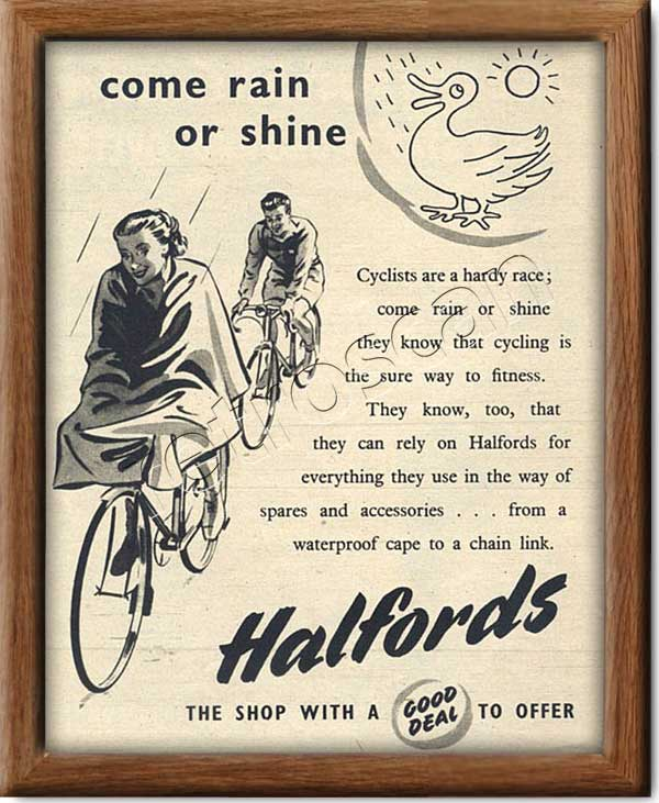 1952vintage Halfords advert