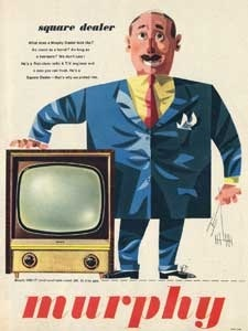 1955 Murphy Television - vintage ad
