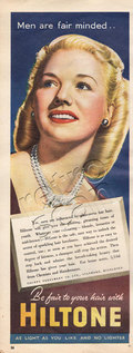 1950 Hiltone Hair Colour Blonde vintage ad