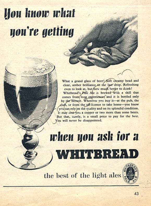 1953 Whitbread Beer - unfarmed