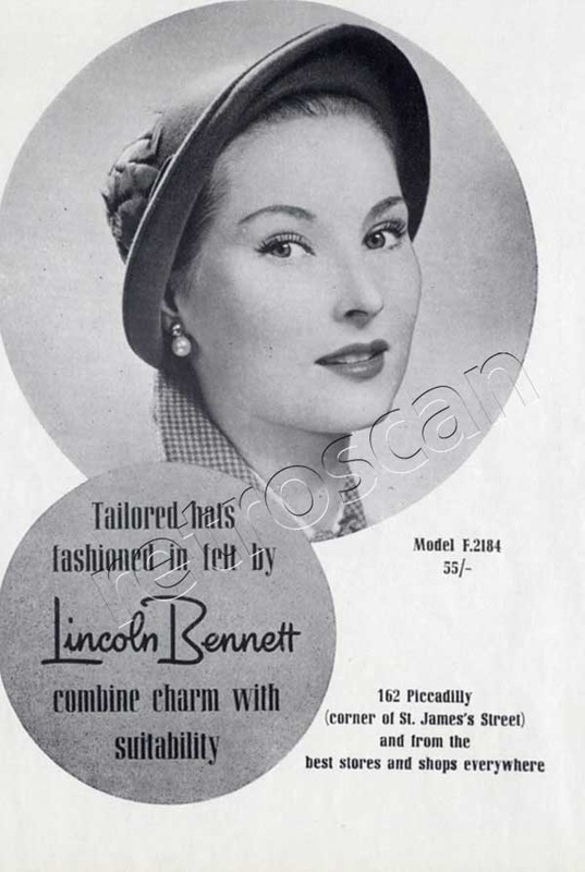 1950 Lincoln Bennet Tailored Hats