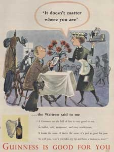 1953 Guinness Is Good Fro You Waitress - Vintage Ad