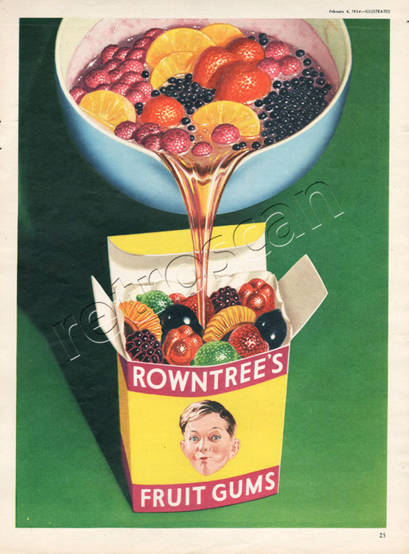1954 Fruit Gums - vintage ad