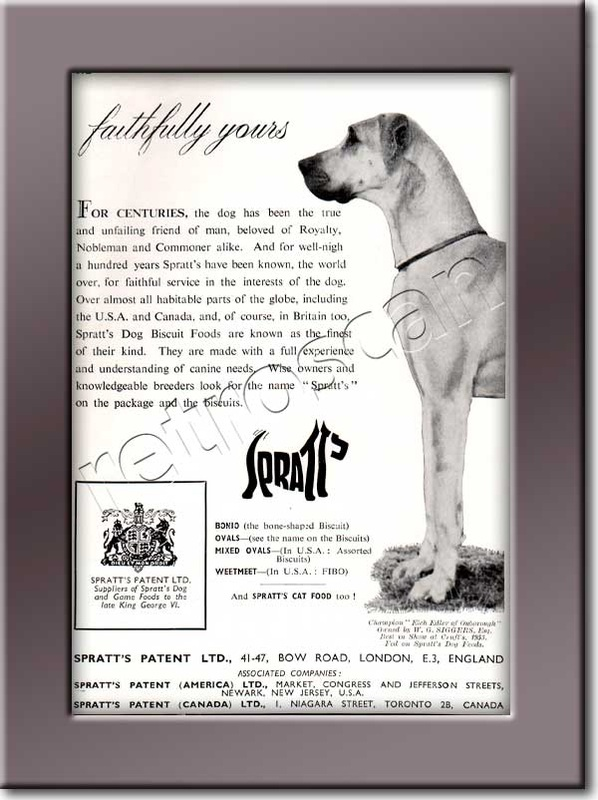 1953 Spratts - framed preview - Vintage Ad