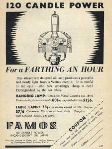 1936 Famos Lamps