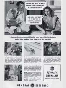1948 General Electric Dishwasher - Couple - vintage ad