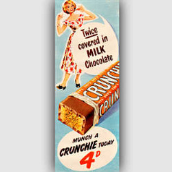 1954 Crunchie Bar - vintage ad