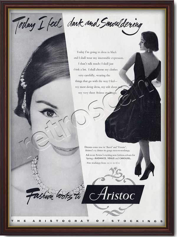 vintage Aristoc Stockings ad