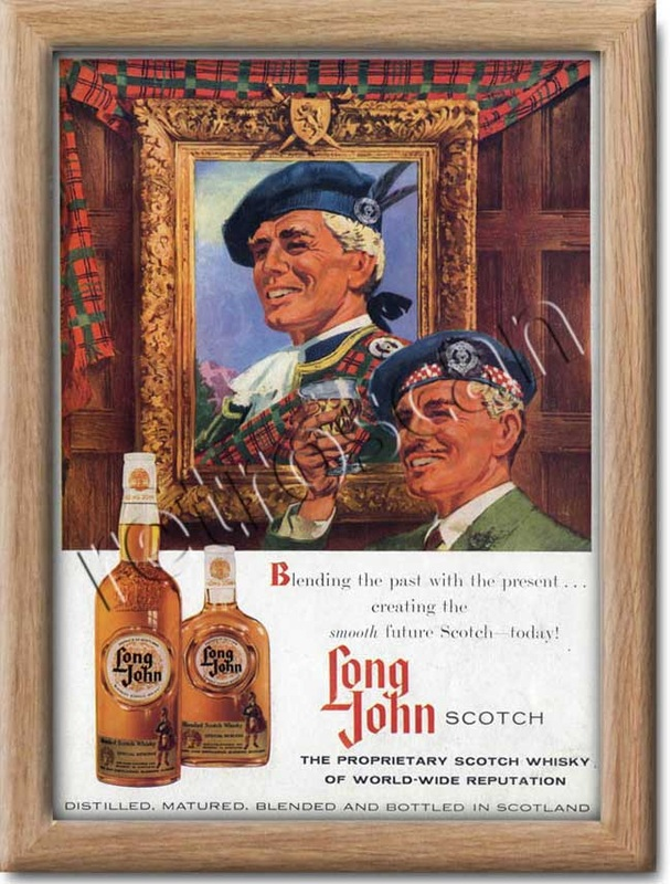 vintage Long John Scotch Whiskey advert