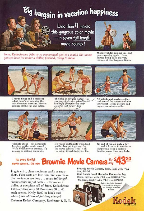 1952 Kodak Brownie Movie Camera vintage ad