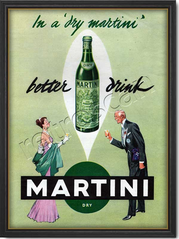 1955 vintage Dry Martini advert