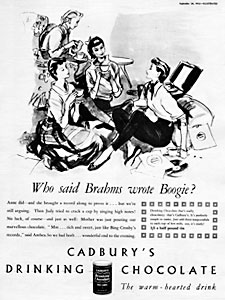 1953 Cadbury's Drinking Chocolate - vintage ad