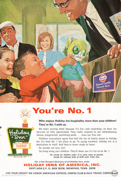 1969 Holiday Inn  - unframed vintage ad