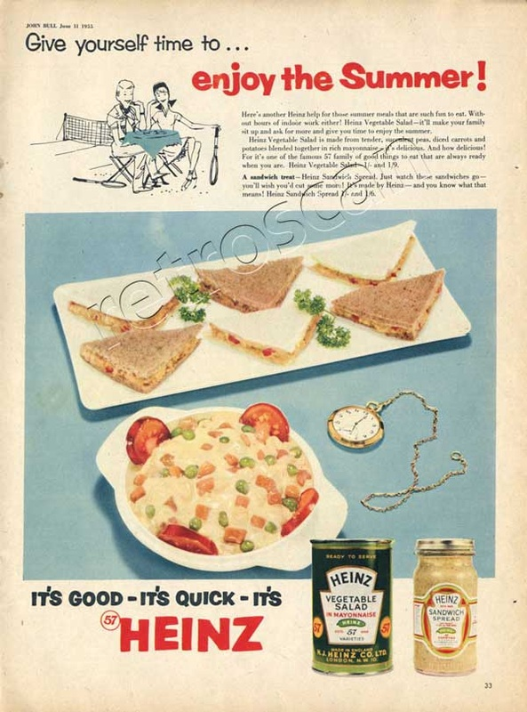 1955 vintage Heinz Vegetable Salad