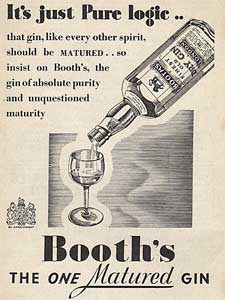 1937 Booth's Gin - vintage ad