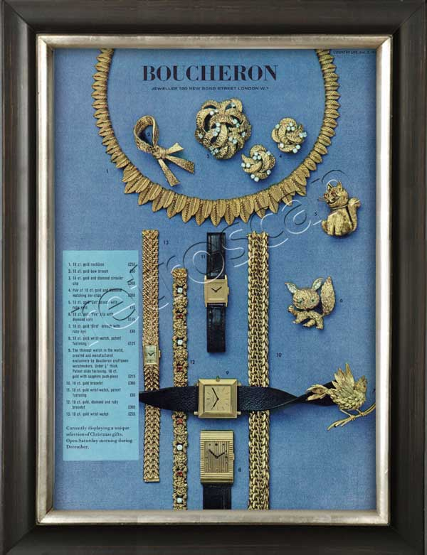 1964 vintage Boucheron advert