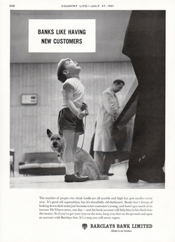 1961 Barclays Bank - unframed vintage ad