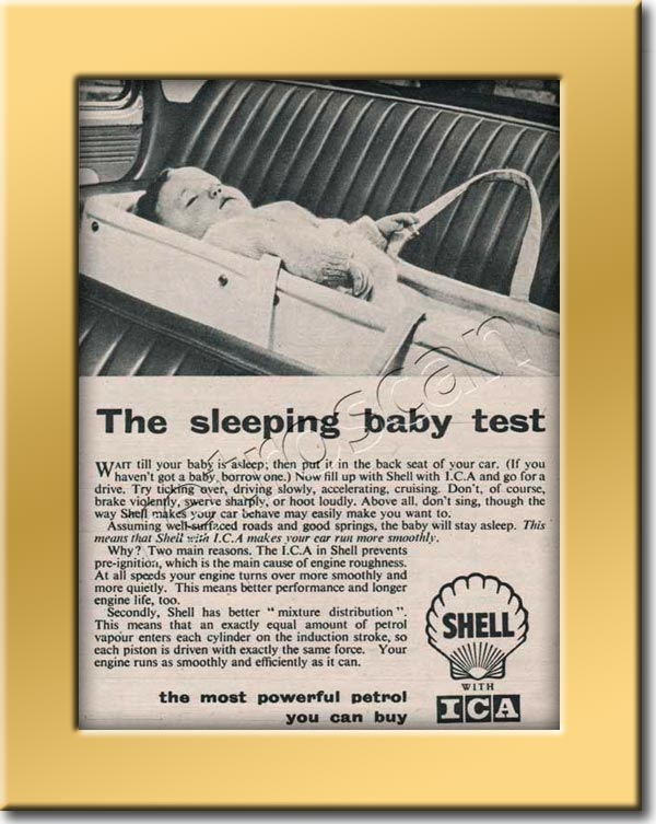 1955 vintage Shell-ICA  - framed preview Ad