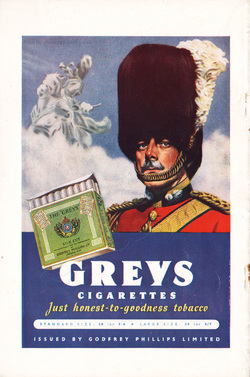 1948 Greys Cigarettes - unframed vintage ad