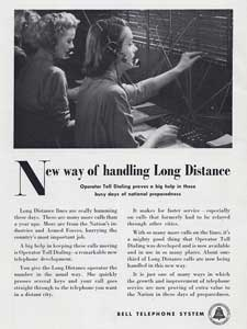 1951 Bell Telephone Exchange - vintage ad
