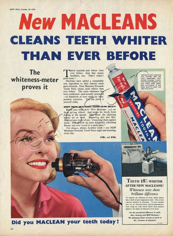 1955 Macleans Toothpaste - unframed