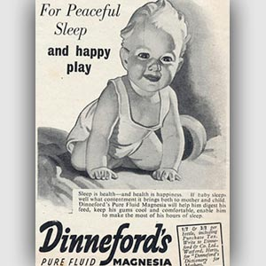 vintage Dinnefords advert