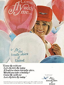 1969 ​United Airlines - vintage ad