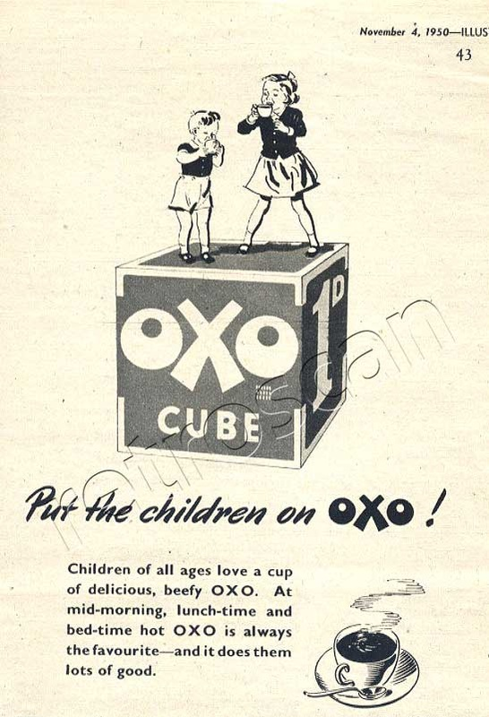 retro OXO Cubes advert