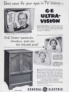 1953 GEC Ultra-Vision TV  Bing Crosby and Joan Davis