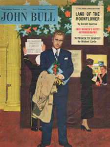 1955 November John Bull Vintage Magazine man waiting for his date