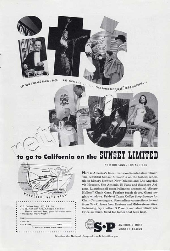 1953 Southern Pacific railroad