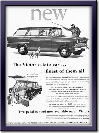 vintage Vauxhall Victor Estate advert