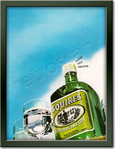 vintage Squires Gin  advert