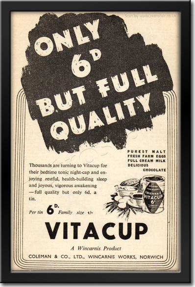 1936 Vitacup - framed preview retro