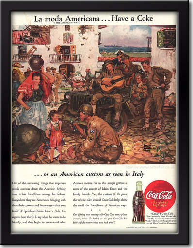 1945 Coca Cola - framed preview retro