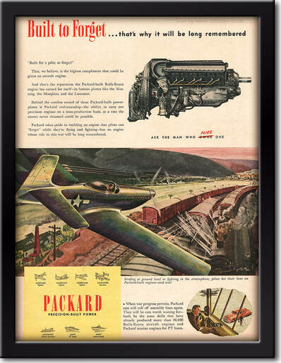 1945 Packard Cars - framed preview retro