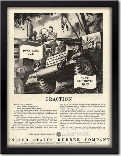 1945 United States Rubber Company - framed preview retro
